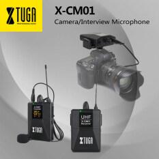 Micro không dây Xtuga X-CM01 UHF cài ve áo, micro với 16 kênh hai cáp cáp 3.5mm 164ft dùng cho máy ảnh DSLR/DV máy quay phim máy ghi âm – INTL