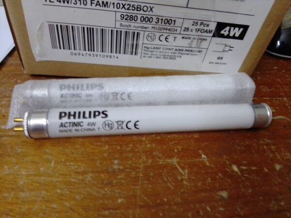 Philips TL 4W ACTINIC BL (CHINA) F4T5 F4T5\BL 4W Replacement UV tube for mosquito trap insect killer.