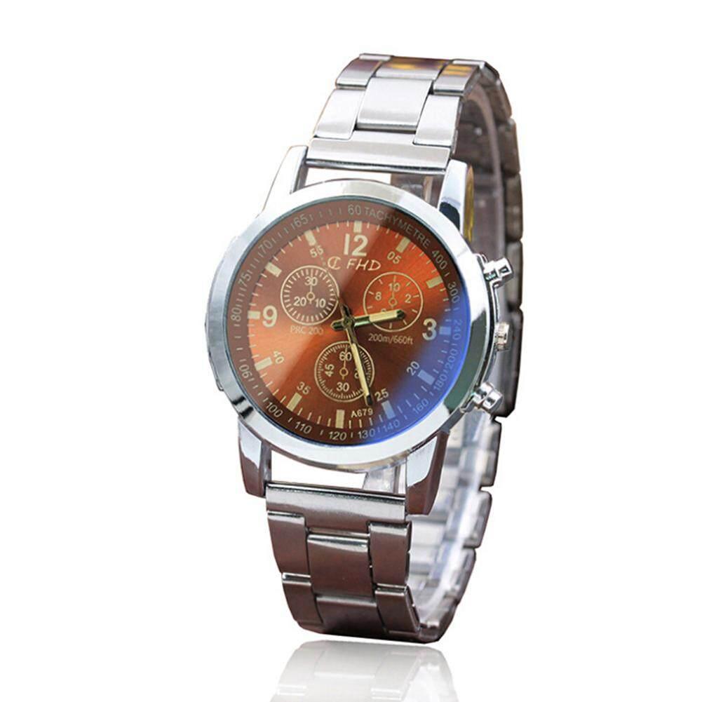 LB Fashion Men Analog Quartz Wrist Watch Formal Watch Stainless Steel Life Waterproof Jam Tangan Buckle Malaysia