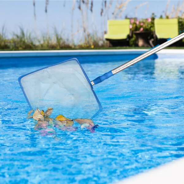Dolity Swimming Pool Skimmer Net Deep Bag Catcher Cleaning Leaves Net for Spa Pond
