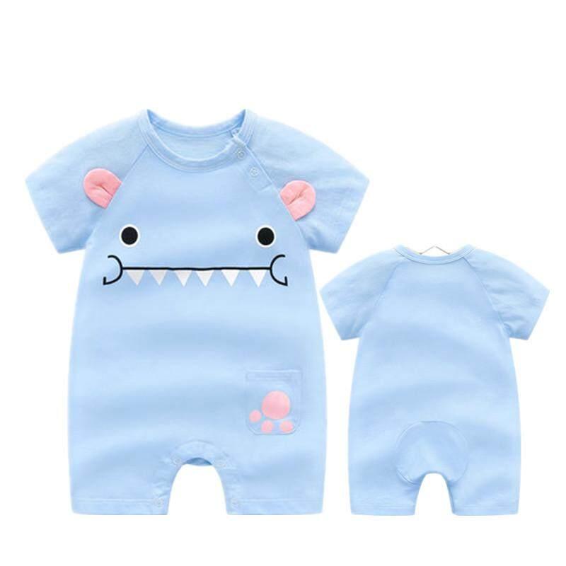 Image 3 for ใหม่ล่าสุดน่ารักทารกแรกเกิดบาง Bodysuits Baby PURE ผ้าฝ้ายแขนสั้นเปิดคลานเสื้อผ้า