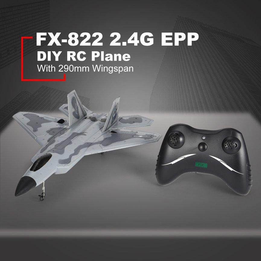 Ubest FX-822 F22 2.4GHz 290mm Wingspan EPP RC Fighter Airplane Battleplane RTF Remote Controller RC quad*opter Aircraft Model