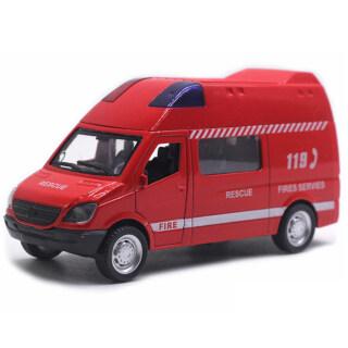 Xe cấp cứu đồ chơi kéo lùi có âm thanh dùng làm quà cho bé Dece - INTL thumbnail