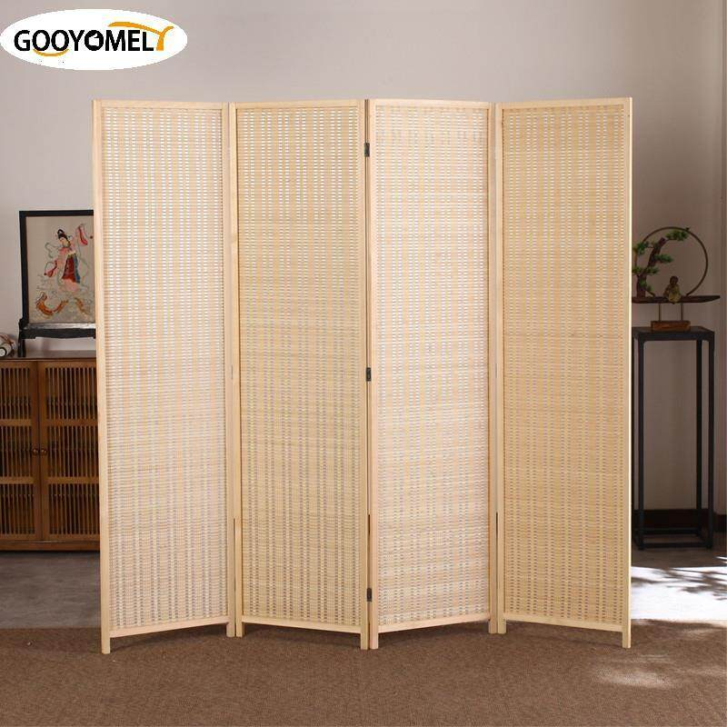 Gooyomely Japanese Design 4 pcs/set Folding Screen Room Divider / Partition / Screens 170*200CM