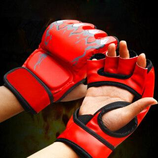Bao Cát Đấm Bốc MMA Dành Cho Người Lớn Găng Tay Nửa Ngón Giả Da Luyện Tập Chiến Đấu thumbnail