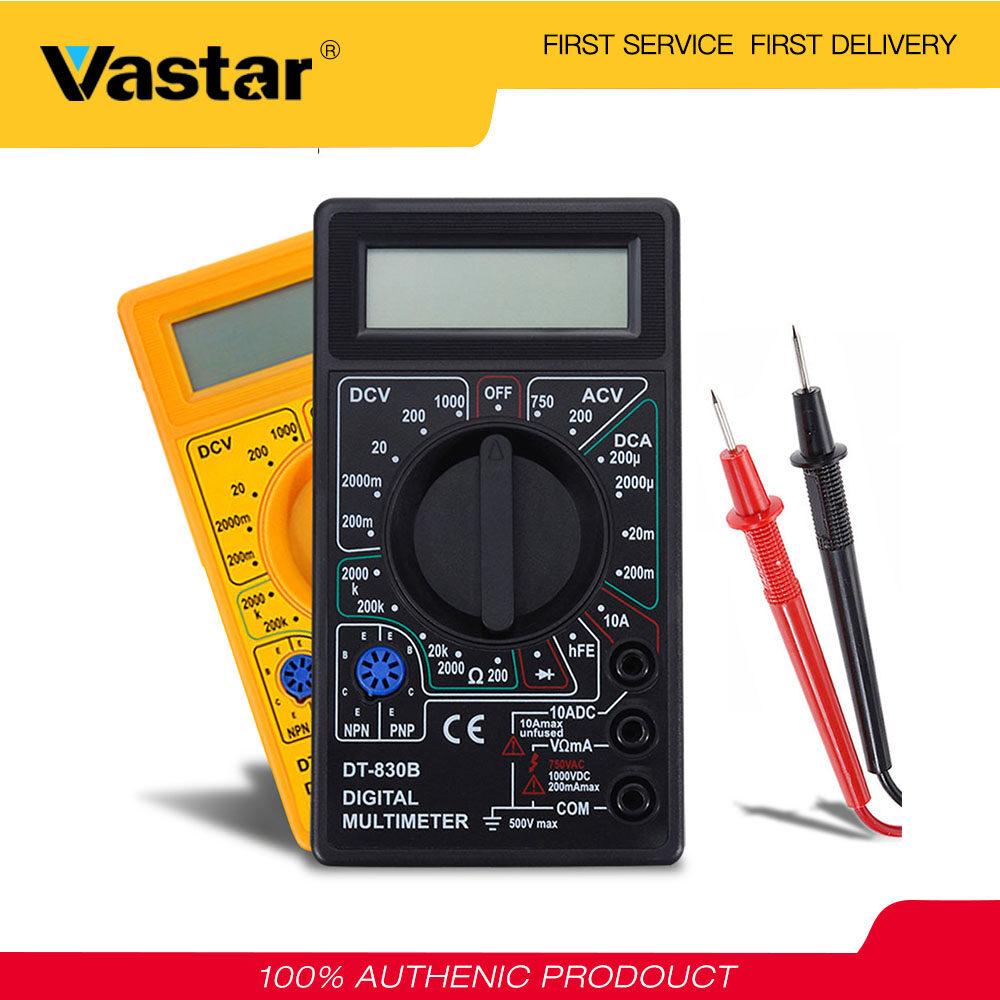 Vastar Đồng hồ đo điện vạn năng AC/DC 750/1000V Vôn/Ampe màn hình LCD kỹ thuật số mini - INTL