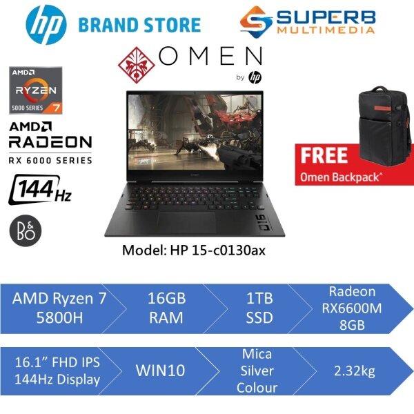 HP Omen Gaming Laptop 16-c0131AX (AMD Ryzen 7 5800H, 16gb ram, 1tb ssd, Radeon RX6600M 8gb, 16.1 FHD IPS 144Hz, Win10) Malaysia