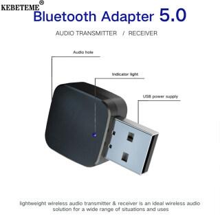 KEBETEME Bộ Thu Phát Bluetooth 5.0 Không Dây, Bộ Chuyển Đổi Máy Phát Nhạc USB 2 Trong 1 Âm Thanh Stereo AUX 3.5Mm Mini thumbnail