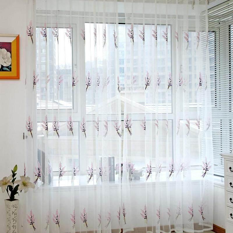 Rèm Cửa Sổ Vải Voan Mỏng Thêu Màn Hình 2M Cho Phòng Khách