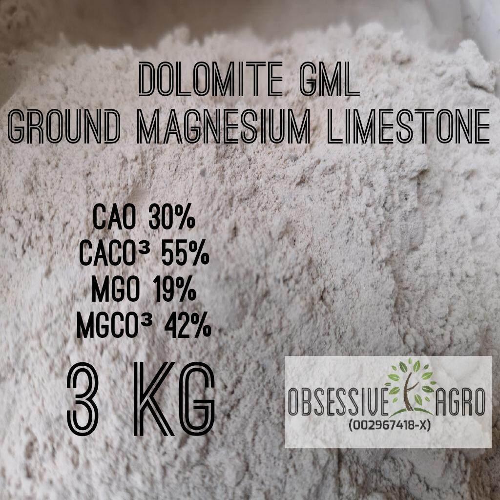 DOLOMITE GML 3KG Ground Magnesium Limestone