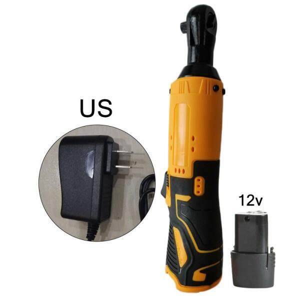 12V 1/4 Drive Cordless Electric Ratchet Wrench Variable Speed-Trigger Kits