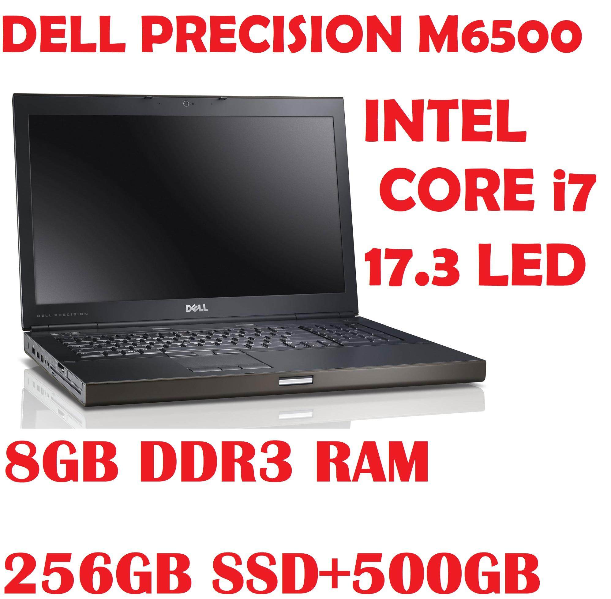 DELL PRECISION M6500 INTEL CORE i7 Q740 1.73 GHZ/8GB DDR3 RAM/256GB SSD+500GB DRIVE /DVD RW/17.3  LED SCREEN/AMD RADEON HD5800 SERIES GRAPHIC CARD/WIN 7 PRO Malaysia