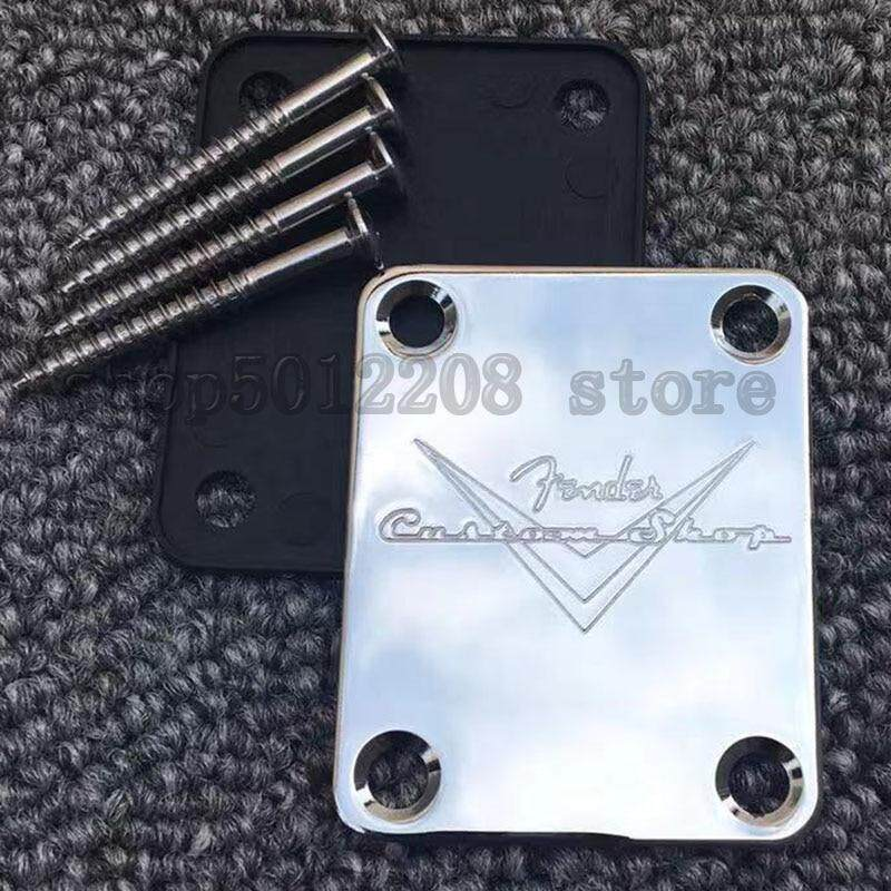 Custom Shop Chrome F Neck Plate For ST TL Electric Guitar And Bass musical instrument accessories Malaysia
