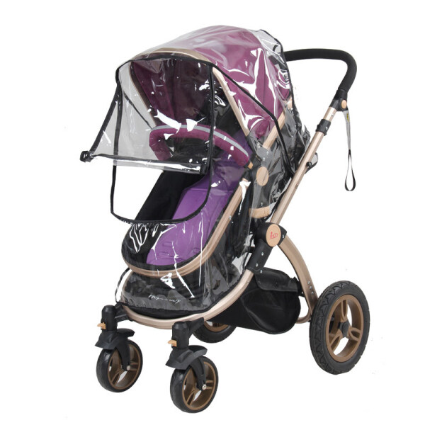 Baby Stroller Accessories Zipper Type Waterproof Rain Cover Transparent Windproof Dust Cover Baby Stroller Raincoat Pram Jogger Accessories Singapore