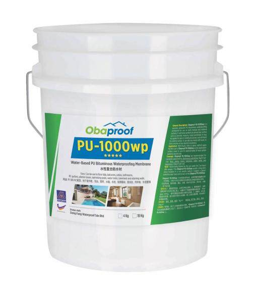 Obaproof PU-1000wp 18kg Water-Based PU Bituminous Waterproofing Membrane