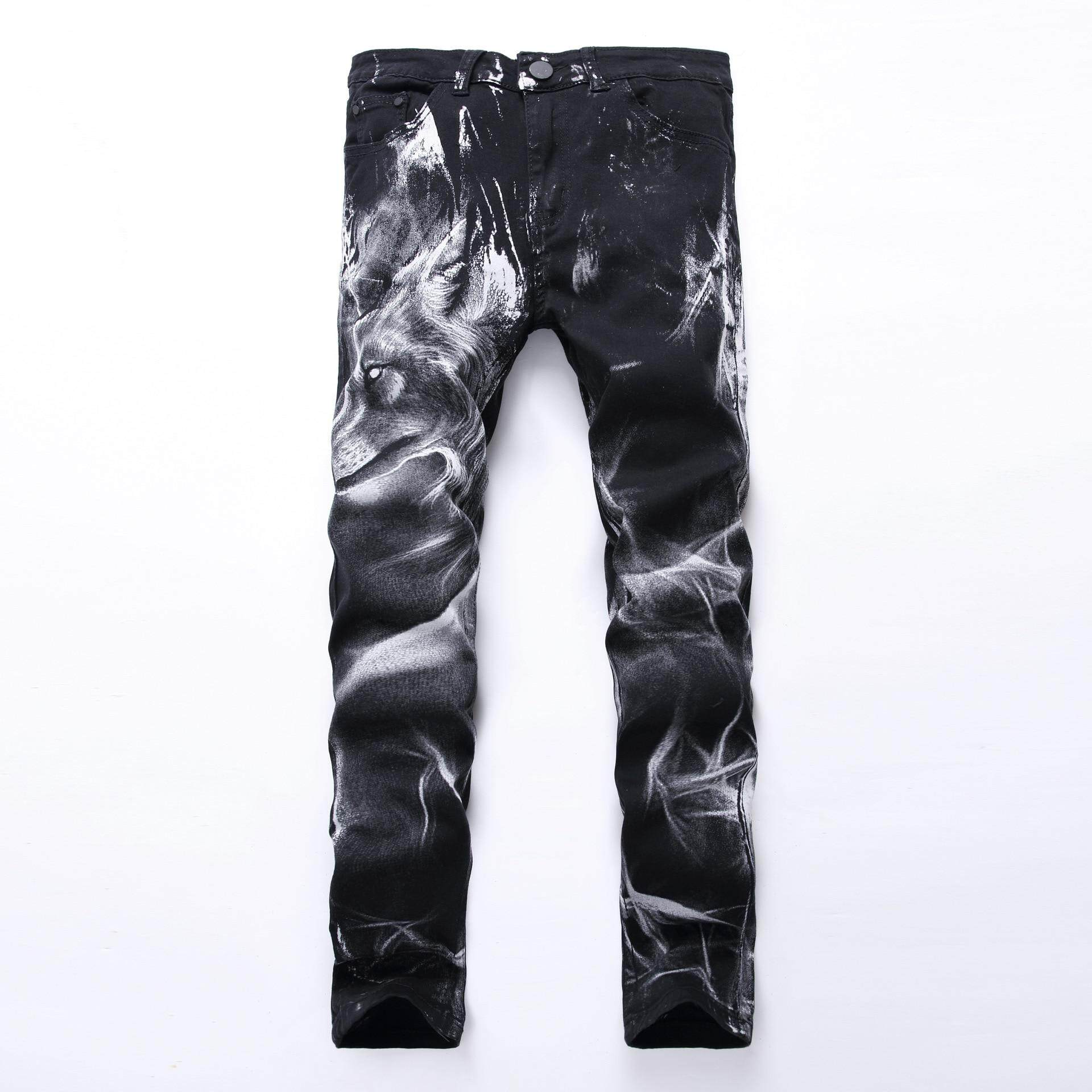 Street Wear HIP HOP Punk Denim Mens Stretch Jeans Skinny 2019 New Brand Casual Trousers Pencil Spring Clothes Streetwear