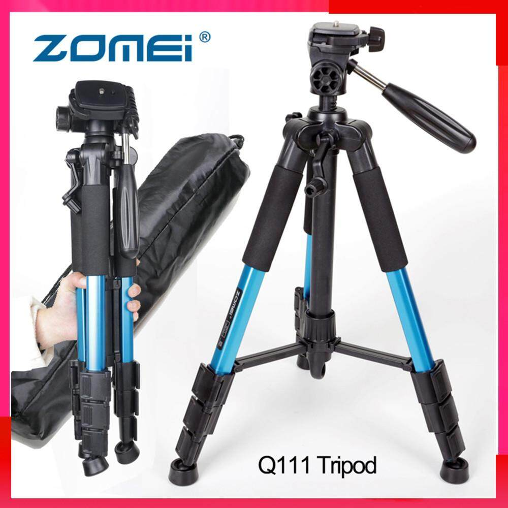 Top Quality Zomei Q111 56 inch Lightweight Aluminum Tripod with Bag(Blue color)