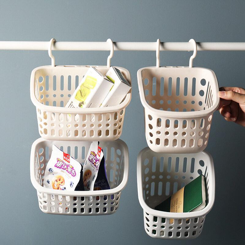 Giỏ Treo Phòng Tắm Bằng Nhựa IKEA Treo Giỏ Lưu Trữ Nhiều Lớp Kèn Đa Chức Năng Với Móc Mảnh Vụn Rửa Phòng Tắm Giỏ Nhỏ