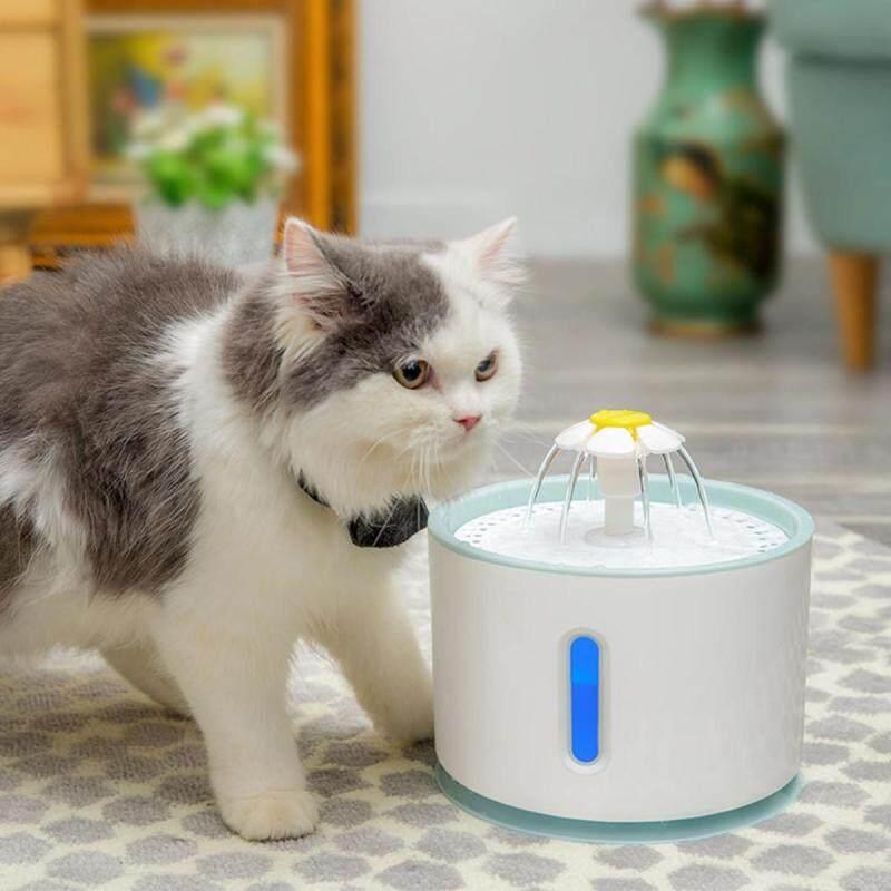 Đài Phun Nước Mèo Cưng Tự Động Led Điện USB Chó Mèo Pet Mute Máng Ăn Uống Bát 2.4L Máy Phun Nước Uống Cho Thú Cưng