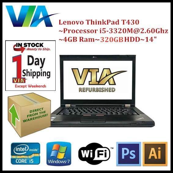 Refurb Lenovo ThinkPad T430 Core i5~4Gb~320Gb~W7 Pro Malaysia
