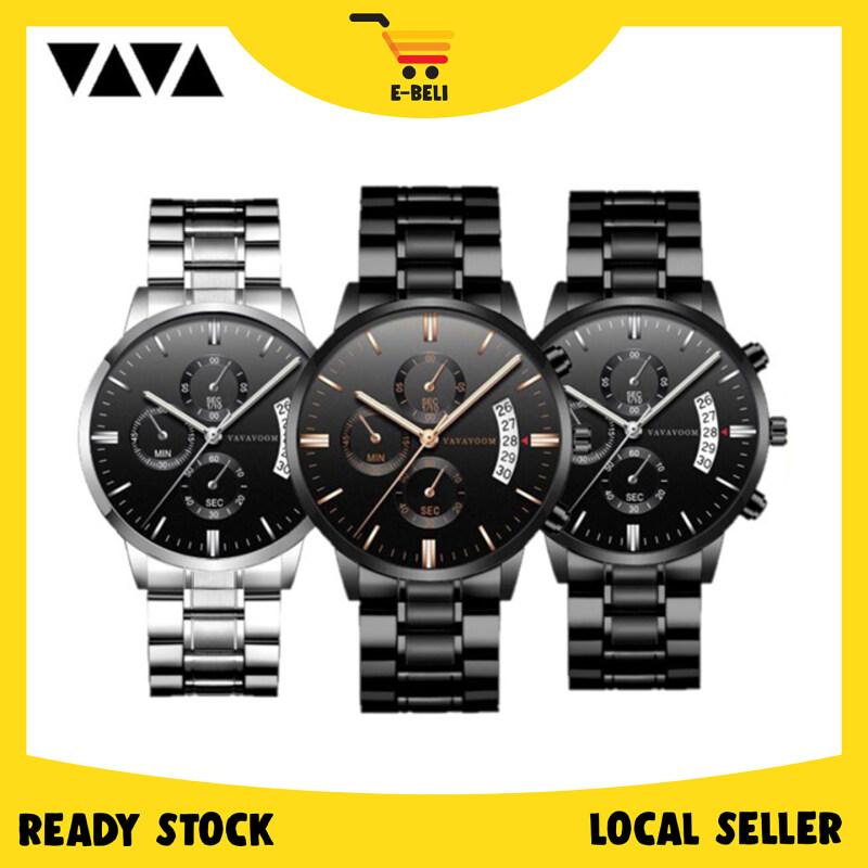 [Ready Stock] E-Beli VAVAVOOM Luxury Business Stainless Steel Quartz Fashion Men Watch Malaysia