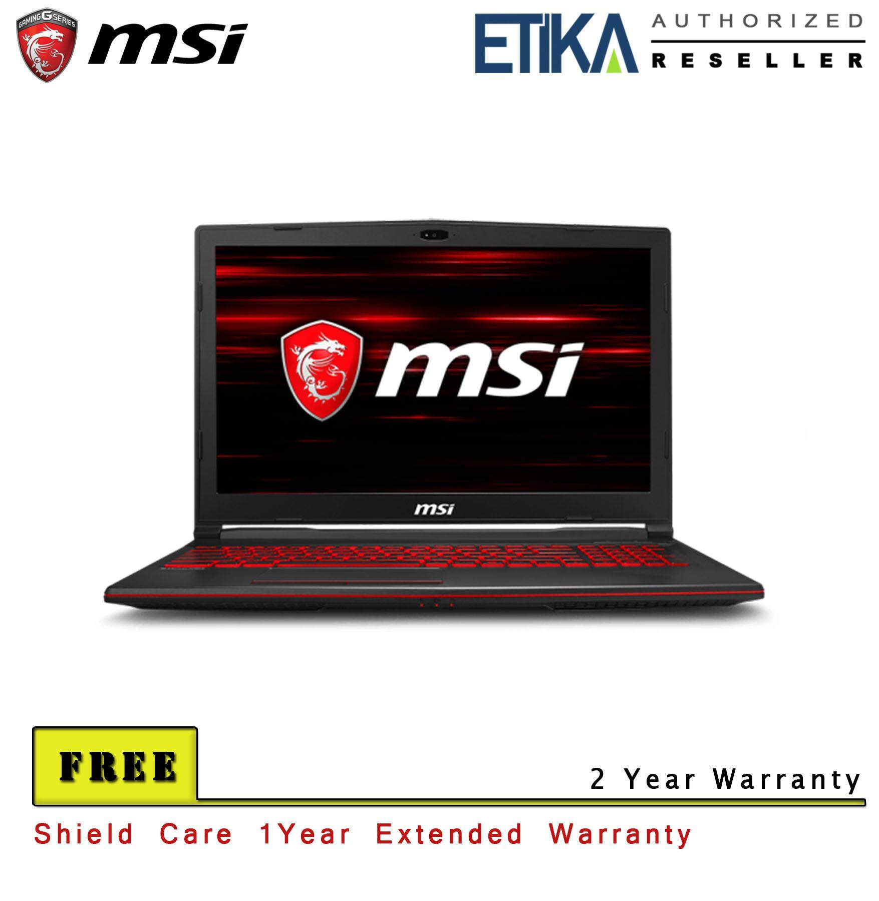 MSI GL63 8RC-666 (GeForce GTX 1050, 4GB GDDR5) Gaming Laptop - FREE Shieldcare + Backpack Malaysia