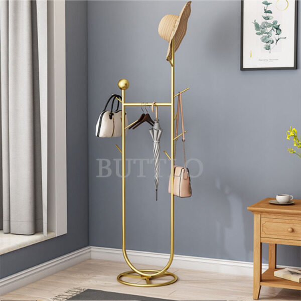Nordic Floor Coat Rack Hanger Household Bag Rack Modern Minimalist Clothes Rack