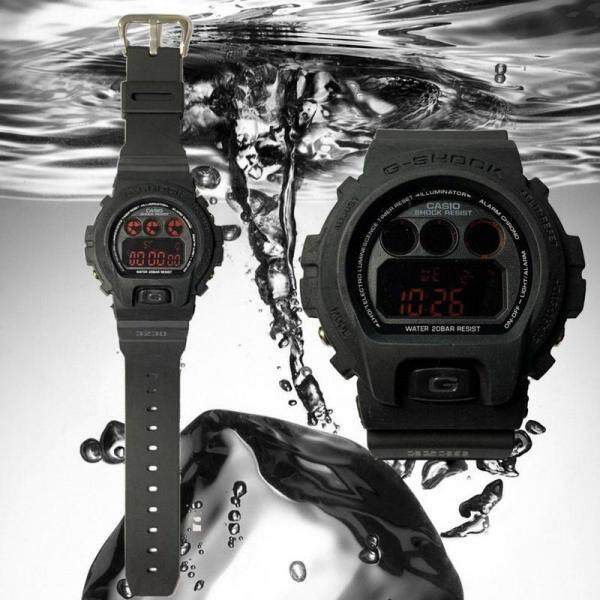 New_Casio_G-SHOCK_DW-6900MS-1 Black Edition Resin Red/White LCD Standard Digital Watch (Polis_Evo_) With Free Gift Box Fast Delevery Malaysia