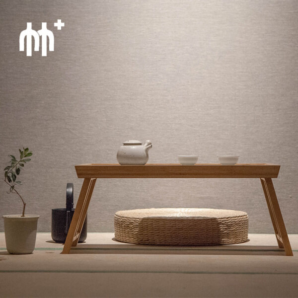 zhi ji Bamboo Folding Table Bay Window Table Several Inches Shorter Bed a Few Tatami Low Table Portable Tray Minimalist Modern Tea Coffee Table