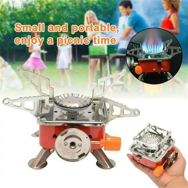Mini Foldable Windproof Camping Stove Foldable Portable Gas Burner Cooking Tool Outdoor Camping