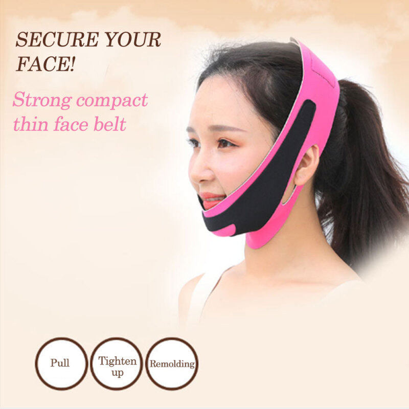 【Homesty] [Free Shipping] [COD] [In stock] [On Sale] [Fast Shipped] 【Buy 6 Get 6% off】V-shaped face with chin and neck slimming Physically change face health indoor Home Become more beautiful Mask bandage