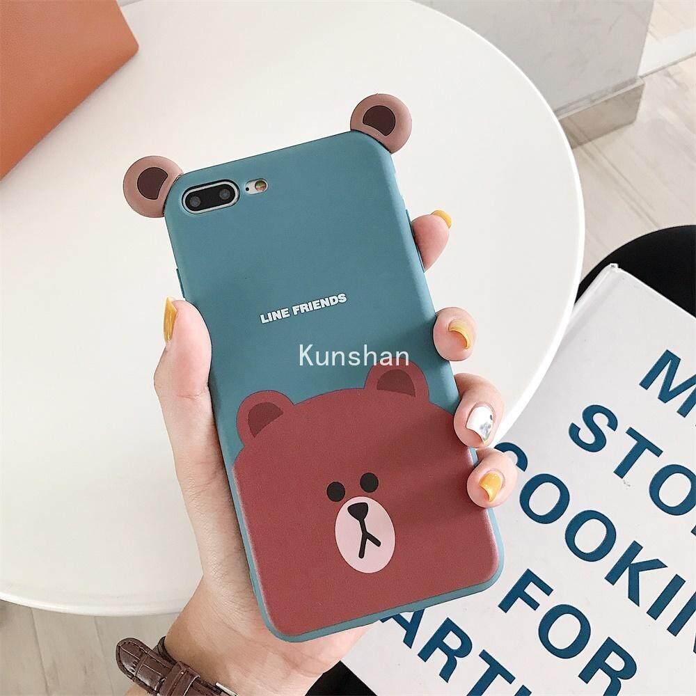 Kunshan Kartun Beruang Lucu Casing Ponsel untuk OPPO A3 A79 A3S A57 A59 A73 A83 A7X Reno F11