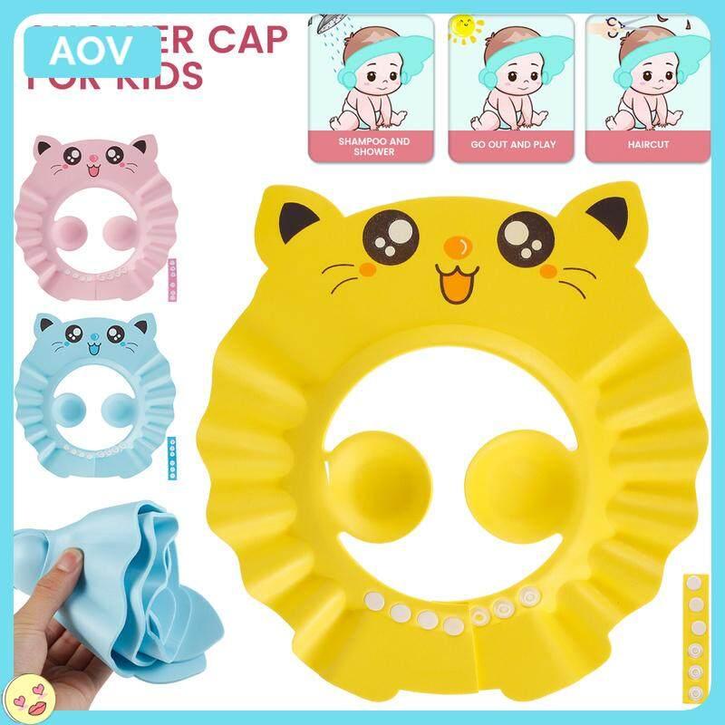 Water Guard หมวกปรับเด็กหมวกอาบน้ำผมหมวกหมวกอาบน้ำเด็กปรับป้องกันหมวกอาบน้ำเด็กหมวกนิรภัยหมวกแชมพูสำหรับล้างทำความสะอาด Shield หมวกอาบน้ำสำหรับเด็ก Todders