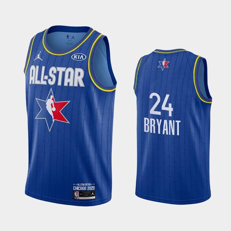 Mùa 2020-2021 NBA Jersey Gốc Nam 2020 Trò Chơi Toàn Sao Los AngelesLakers #24 KobeBryant Hoàn Thành Jersey - Blue Bất Ngờ Ưu Đãi Giá