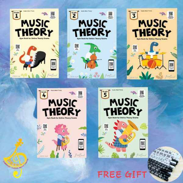 MUSIC THEORY GYM BOOK FOR ONLINE THEORY EXAM ( GRADE 1-5) ALICE YAP Malaysia