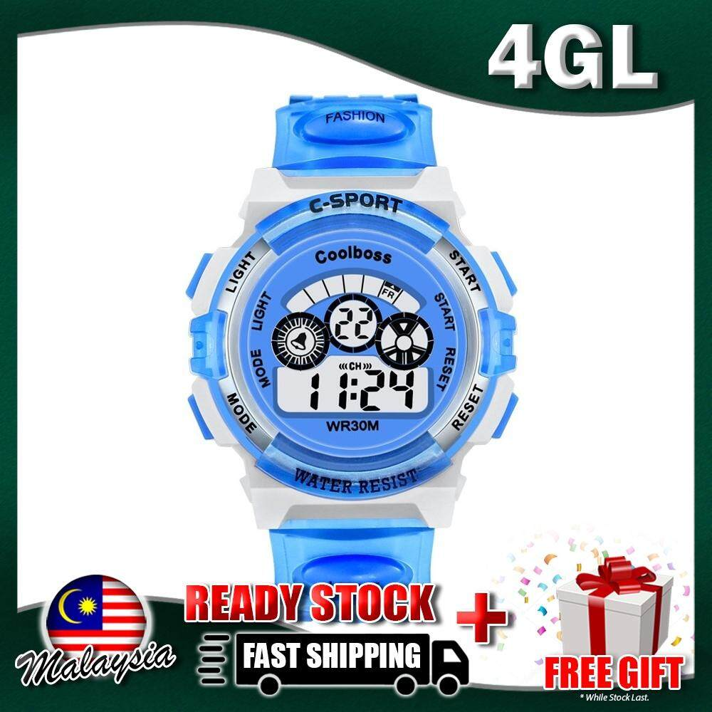 4GL CoolBoss Cooboss Kids Sports Digital LED Watch Jam Tangan (Small 37.5mm) Malaysia