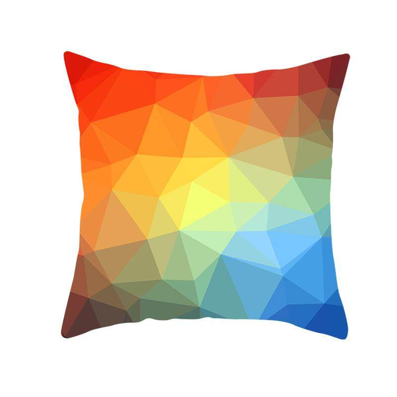 Hotilystore Geometric Print Polyester Square Pillow case Sofa Throw Cushion Cover Home Decor