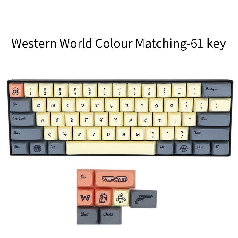 Bgkc Xda Western World Ethermal Dye Sublimation Fonts Pbt Keycap For Wired Usb Mechanical Keyboard Cherry Mx Switch Keycaps Malaysia
