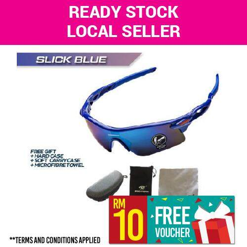[ Best Seller ] Robesbon Polarized Cycling Bike Sun Glasses Outdoor Sports Bicycle Bike Sunglasses Goggles Eyewear (slick Blue) By Ptt Shop.