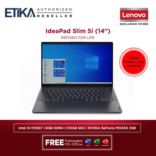 Lenovo IdeaPad Slim 5 14ITL05 82FE00D8MJ Laptop 14 | Intel i5-1135G7 | 8GB | 512GB SSD | NVIDIA GeForce MX450 2GB | W10+H&S | Graphite Grey Malaysia