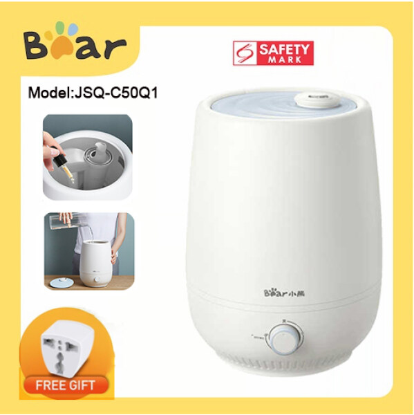 Bear JSQ-C50Q1 Humidifier Household Mute Bedroom Pregnant Women and Babies Purify Air Small Aromatherapy 4.5L Large Mist Sprayer Singapore