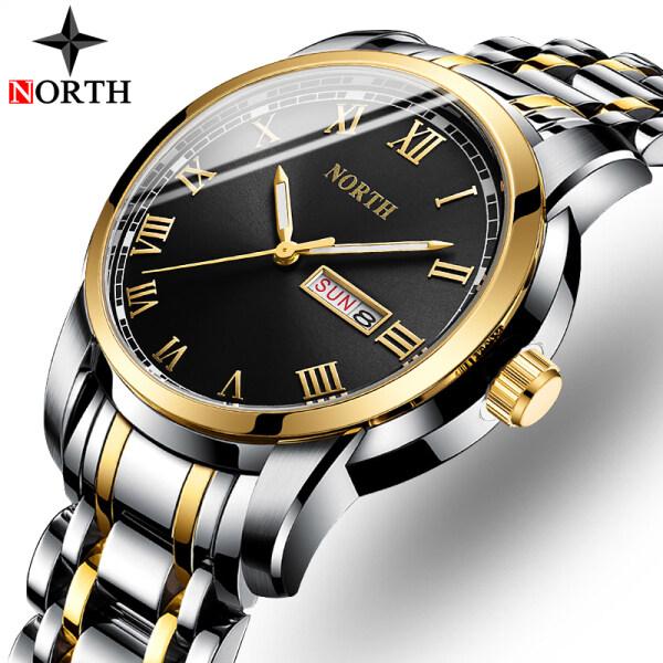 NORTH Mens Top Brand Luxury Mens Watch Fashion Sports Quartz All-steel Business Clock Mens Casual Waterproof Date Watch Malaysia