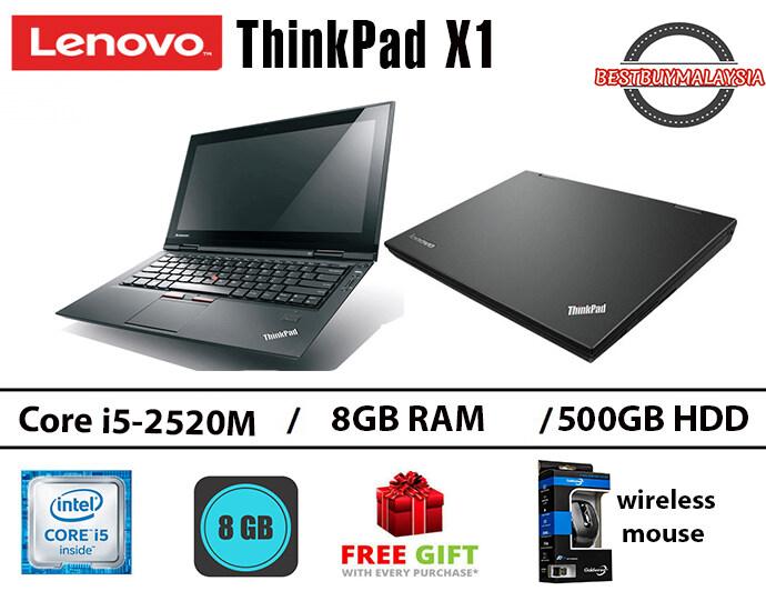 Lenovo ThinkPad X1 Intel core i5-2520M 8GB RAM 500GB HDD 13.3 INCH Malaysia