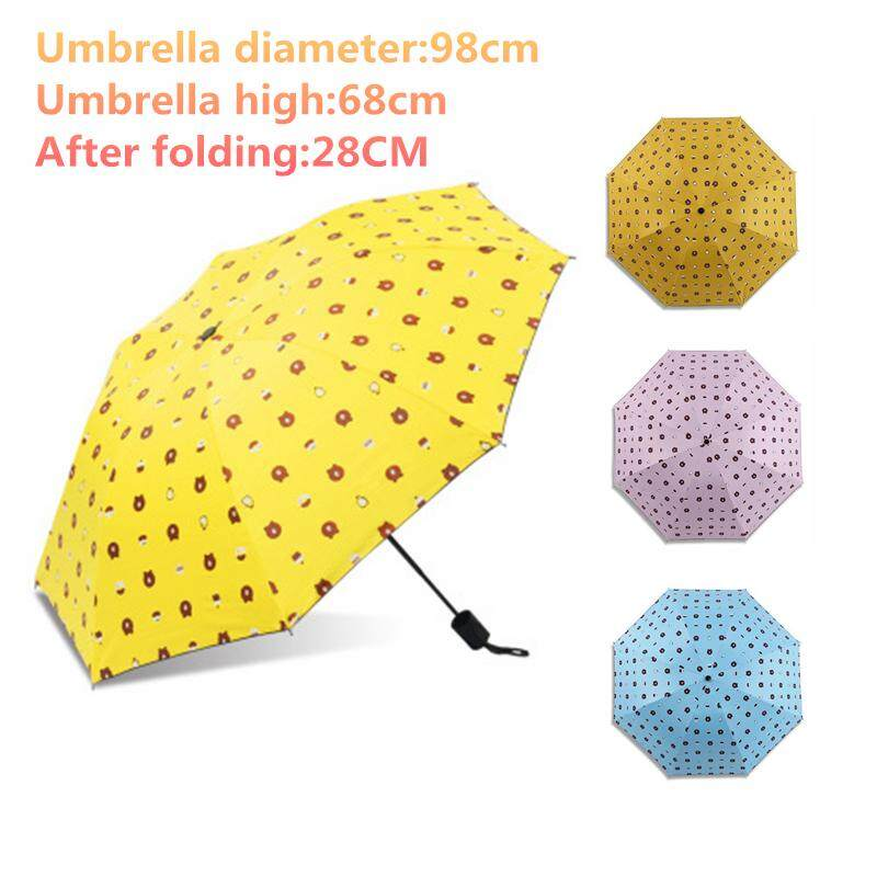 Mini Umbrella Travel Umbrella Sun Rain Umbrella,8 Ribs 98cm Big Surface Lightweight Compact Parasol Uv Protection For Men Women By D-Live.