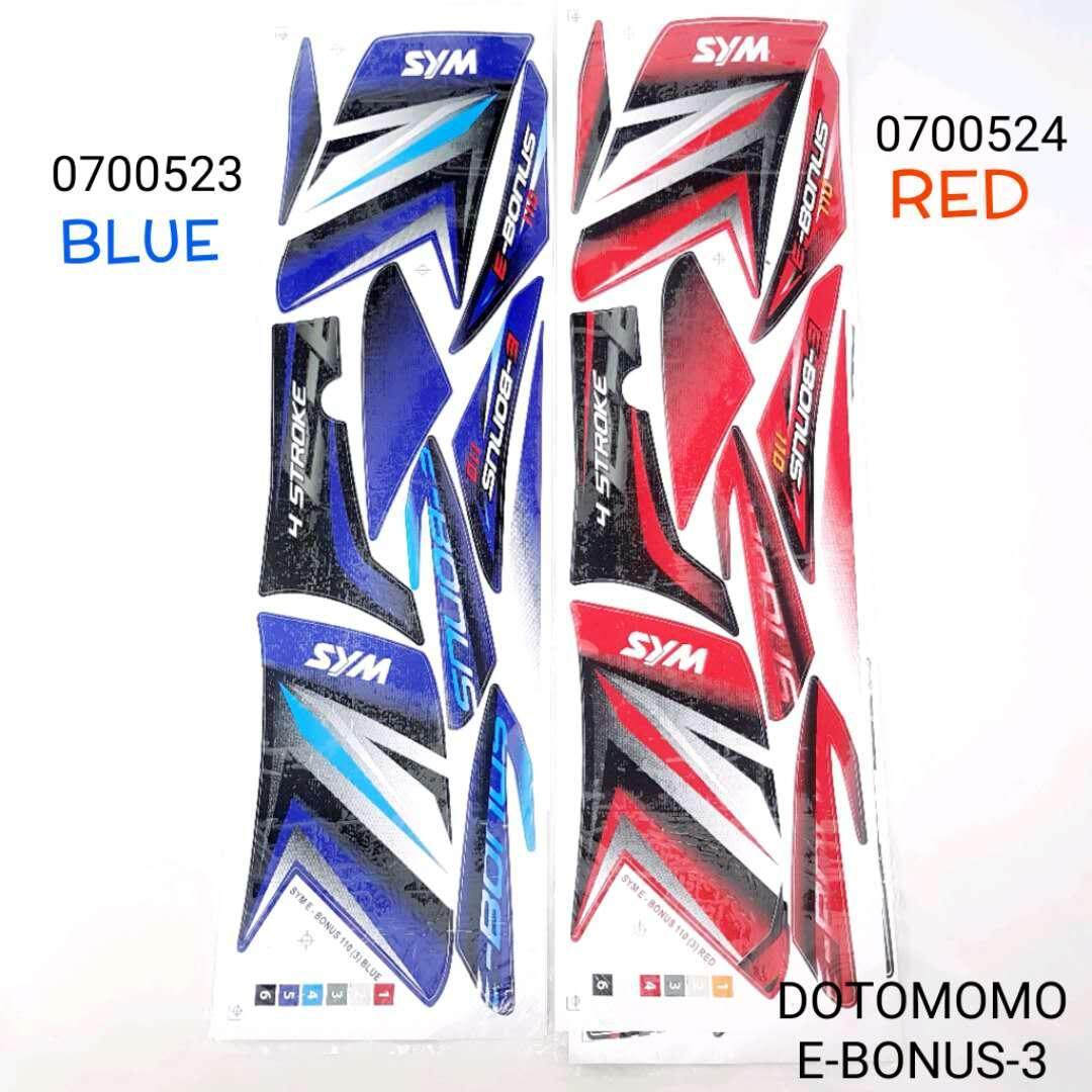"EBONUS 110 SYM STICKER BODY COVER SET ""DOTOMOMO"""
