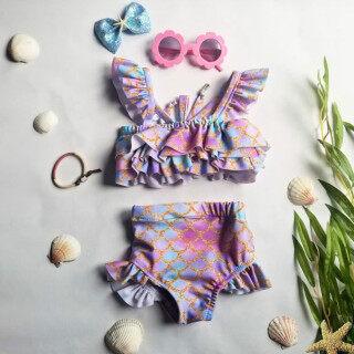 2 Chiếc Áo Tắm Trẻ Em Sling Dễ Thương Little Mermaid Scales In Áo Tắm Cho Bé Gái thumbnail
