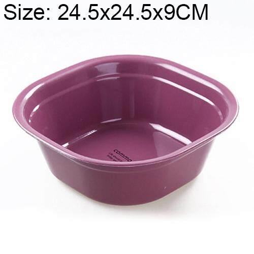 Hộ gia đình Vuông Làm Dày Nhựa Rửa Nhà Bếp Phòng Tắm Giặt Lưu Vực, Kích Thước: 24.5 cm x 24.5 cm x 9 cm (Hồng)
