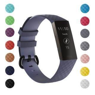 Fitbit Charge 3 Và Charge 4 Quai Đeo Cho Nữ Nam Dây Thay Thế Silicon Mềm Cho Fitbit Charge 3 Sạc 3 SE Có Khóa Kim Loại Dây Đeo Cổ Tay Lớn Nhỏ thumbnail