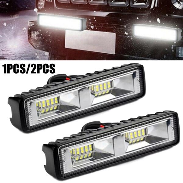 Đèn LED Chiếu Điểm 6500K 48W 12V 24V, Đèn Sương Mù Siêu Sáng Cho Xe Máy Kéo Xe SUV Lái Xe Địa Hình, 16 Bóng