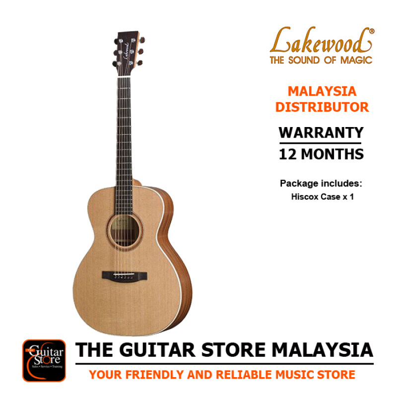 Lakewood M14 Premium Full Solid Acoustic Guitar With Hiscox Hardcase Malaysia